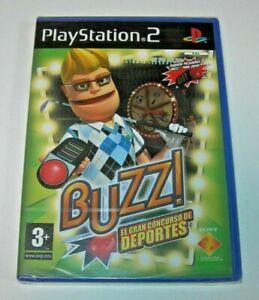 Buzz! El gran concurso de deportes PS2 PAL España precintado