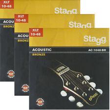 3er-Pack Gitarrensaiten Satz Western Akustik Gitarre Bronze Saiten Seiten Set