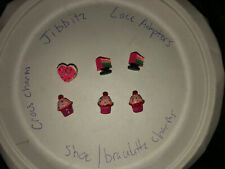 3D Cupcakes,cakes Lot Of 6 Crocs Shoe,Bracelet,Lace Adapter Charms,Jibbitz