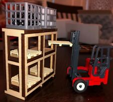 1/50 Pallet Rack Storage Shelves for Shops and Dioramas