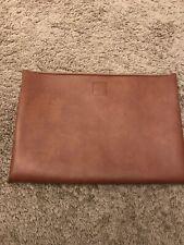 Under $20. Vtg Amway Doc. Folio Zip Case Cover Pouch Portfolio Brown Leather Bag