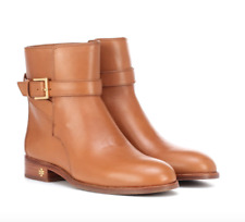 NEW $398 TORY BURCH BROOKE LEATHER BUCKLE BOOTIE BOOT TAN 7