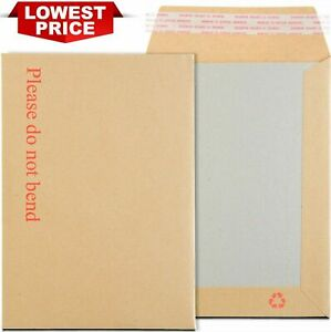 PLEASE DO NOT BEND HARD CARD BOARD BACKED ENVELOPES ENVELOPE SEAL BROWN A4 A5