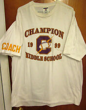 CHAMPION FLASHES beat-up tee 1999 coach 2XL Middle School T shirt XXL OHIO