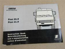 Fiat 50.9 55.9 LKW Bedienungsanleitung Betrieb Wartung Instruction Book 1977