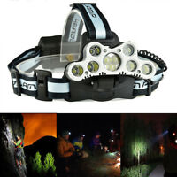 120000LM LED Rechargeable Headlight Torch T6 Headlamp Head Light Lamp USB 18650