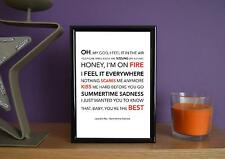 Framed - Lana Del Ray - Summertime Sadness - Poster Art Print - 5x7 Inches