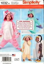 Simplicity Sewing Pattern 1032 Toddlers Costumes 1/2-4