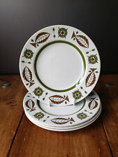 4 MID CENTURY MODERN CROWN DUCAL SKANDIA SCANDINAVIAN STYLE FISH SIDE PLATES