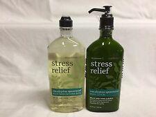 Bath & Body Works Stress Relief EUCALYPTUS SPEARMINT Lotion & Wash Gel Set of 2