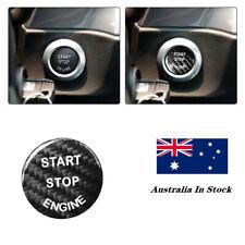 Black Carbon Fiber Engine Start Stop Button Cover Trim For BMW E90 F30 5series