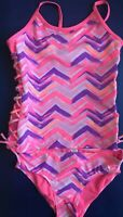 NWT Justice Swimsuit Tankini Pink Bathing Suit Girls Swim Two Piece Size 6 New