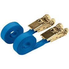 Draper 60966 250kg Ratcheting Tie Down Strap Sets (4.5m X 25mm) (2 Piece)