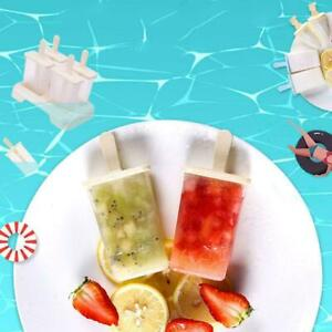Ice Cream Molds 9 Ice Popsicle Mold Set Reusable Ice Cream Stick DIY Molds U9B3