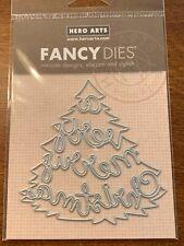 """Hero Arts Fancy Dies """"Very Merry Tree"""" DI540 New"""