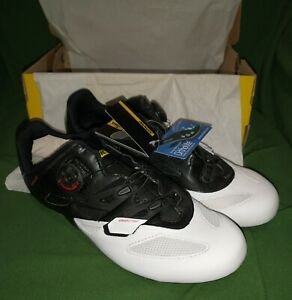 Mavic Cosmic Elite Cycling Shoes  US M 10 W 11 EUR 44 White/Black/Red new in box