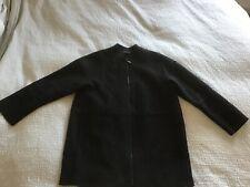 Lovely Cos black boiled wool cocoon style zipped jacket coat size 38 uk 12