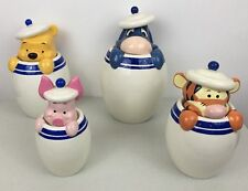 Winnie the Pooh Peek-a-boo Canister Full Set Of 4 Tigger Eeyore Piglet Retired