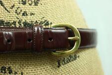 "Men's COACH Leather Belt 36"" Gold Buckle Burgundy Leather"