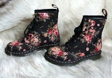 NIB Dr Martens 1460 W Black Victorian Flowers Size US 7 Womens Air Waire Doc