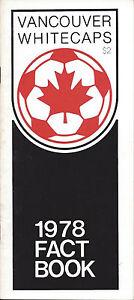 1978 Vancouver Whitecaps Media Guide