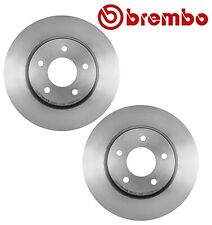 Pair Set of 2 Front Disc Brake Rotors Vented 296mm 5 Lug Brembo For Chevy Saturn
