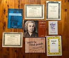 VTG LOT of 8 Organ Sheet Music Books -  Classic Bach Becker Lovelace Hymn Play