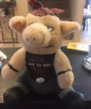 Love To Ride Motorcycles Plush Pig