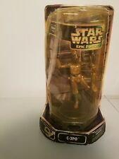 "STAR WARS Epic Force C-3PO Statue 6""  Rotating base Hasbro NEW SEALED NM/MT NOS"