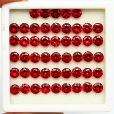 Cut Red Ruby Gems Lot Ring Size 150 Ct Ggl Certified Natural Brilliant Round