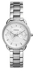 Fossil Women's Tailor Silver Dial Stainless Steel Watch ES4262