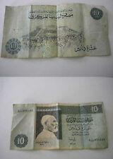 Libya Libia 10 dinari fine anni 80 primi 90 buono stato NON COMUNE