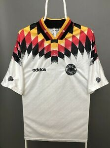 RARE ADIDAS GERMANY 1994 1995 HOME FOOTBALL SHIRT SOCCER JERSEY DFB WORLD CUP L