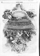 Paris Armoiries Chevaliers du Lustre sous l'Empereur Napoléon III GRAVURE 1866