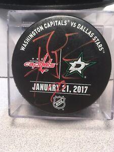 Braden Holtby Autograph Warm-Up Puck - Washington Caps Vs Dallas Stars - Beckett
