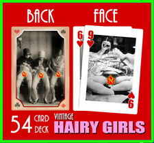Nude Playing Cards Vintage Hairy Gals