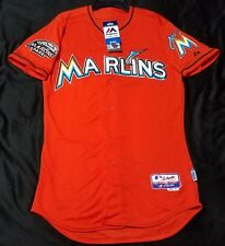 MAJESTIC AUTHENTIC SIZE 56 3XL, MIAMI MARLINS ORANGE CoolBase Jersey
