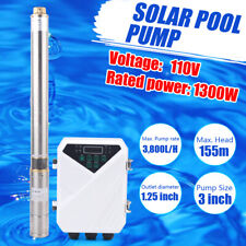 3 Dc Deep Bore Well Solar Water Pump 110v 167gpm Submersible Mppt Controller
