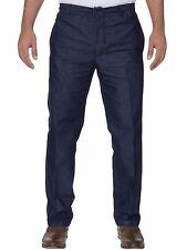 Carabou Rugby Negro de hombre Azul Formal Ropa Trabajo Pantalones Talla Cintura