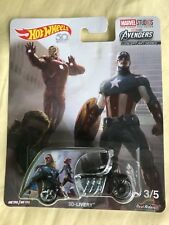HOT WHEELS MARVEL STUDIOS AVENGERS 3D-LIVERY MOTORCYCLE with RUBBER TIRES