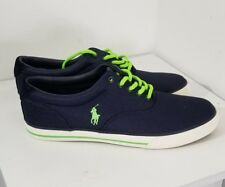 Polo Ralph Lauren Navy Blue Green Vaughn Canvas Low men size 10