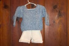 Blue curly cute sweater with bloomers for girls & boys 18 to 24 month old