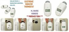 Electronic Radiator Thermostat - With Timed Temperature Control - Pack of 3