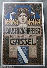 original  AK  1913 Kassel Cassel  als Karte  gelaufen Jugendstil  Motiv