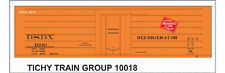 Tichy Train Group #10018 HO Scale DSDX (MILW) Rib Side Reefer Decals