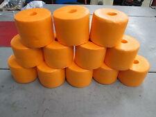 12 Pack of Orange Crab Pot Floats, Lobster, Shrimp, Minnow Trap, Marker Buoy