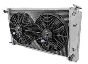 """1968-1973 Chevy Chevelle Radiator & Dual 14"""" Fans Champion All-Aluminum 2 Row"""