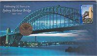 2007 Australia PNC $1 UNC Coin, 75 years of the Sydney Harbour Bridge RAM