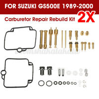 For SUZUKI GS500E 1989-2000 2Pcs Carburetor Repair Rebuild Kits Carb Jet