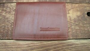 Lambretta logo Tan Leather wallet credit card size, licence / ID holder vs933